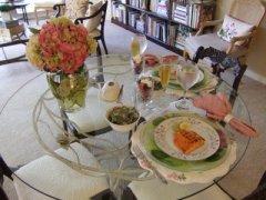 easter dinner table hydrangeas 1